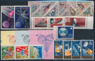 Space Exploration 1966-1968 5 diff sets + 1 stamp, Űrkutatás 1966-1968 5 klf sor + 1 önálló érték