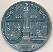 NSZK / Ottobrunn 1985. 15 éves az Ottobrunni Bélyeg- és Éremgyűjtő Egyesület fém emlékérem (30mm) T:2 (PP) FRG / Ottobrunn 1985. 15 Years of Stamp- and Coin Collector Association of Ottobrunn metal medal (30mm) C:XF (PP)