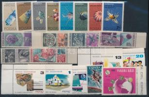 Space Exploration 3 diff sets + 2 diff stamps, Űrkutatás 3 klf sor + 2 klf önálló érték
