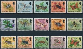 1984 Pókok és rovarok sor Mi 390-404