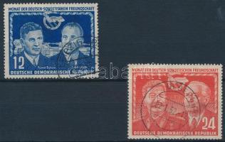 1951 Német-szovjet barátság sor Mi 296-297