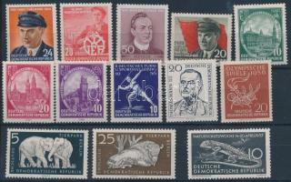 1954-1957 2 klf sor + 10 klf önálló érték