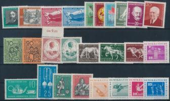 1958-1959 10 klf sor + 1 önálló érték