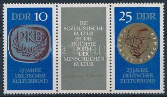 1970 25 éves a Német Kultúrszövetség hármascsík Mi 1592-1593