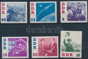 1961 Szovjet űrkutatás sor Mi 863-868