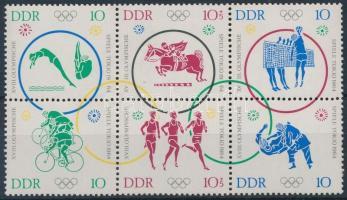 1964 Nyári olimpia hatostömb Mi 1039-1044