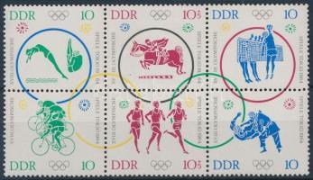 Summer Olympics block of 6, Nyári olimpia hatostömb