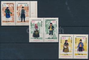 1966 Népviseletek sor 3 pár Mi 1214-1219