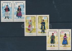 1964 Népviselet 3 pár Mi 1074-1079