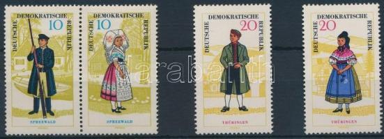 1964 Népviselet sor 4 értéke Mi 1076-1079