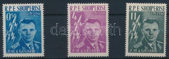 Space research: Gagarin set (11L paper crase), Űrkutatás: Gagarin sor (11L papírránc)