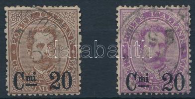 1890 Forgalmi sor Mi 56-57