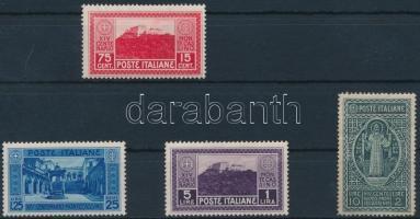 1929 Monte Cassino sor 4 értéke Mi 321-324