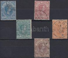 1884 Csomagbélyeg sor 5 értéke Mi 2-6