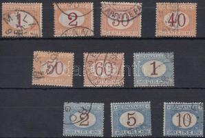1870/1894 Portó sor 10 értéke Mi 3-14