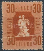 1946 Forint-fillér 30f papírránccal