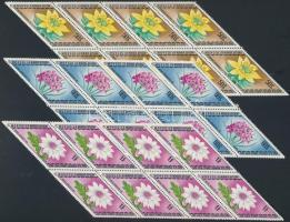 1975 Virágok sor 8-as tömbökben Mi 917-923