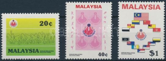 1986 Maláj sportjátékok sor Mi 327-329