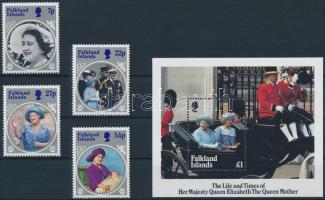 Queen Elizabeth II set + block, II. Erzsébet 85. születésnapja sor + blokk