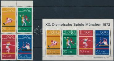1972 Nyári olimpia, München bélyegfüzet lap Mi 22 + blokk Mi 8