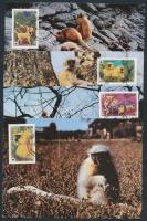 1984 WWF majmok sor Mi 840-843 CM