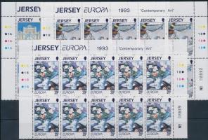 1986 Europa CEPT, Kortársművészet sor ívsarki 10-es tömbökben Mi 612-613