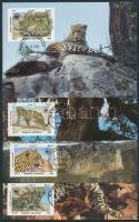 1985 WWF leopárd sor Mi 1453-1456 CM