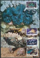 1986 WWF tengeri ízeltlábú és puhatestű sor Mi 73-76 CM