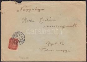 1946 (20. díjszabás) Távolsági levél 20.000 Milpengős bérmentesítéssel