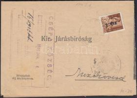 1946 (6. díjszabás) Kézbesítési bizonyítvány távolsági levélként feladva Betűs (I) Tlp.I./4f bérmentesítéssel