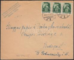 1945 (2. díjszabás) Távolsági levél Hadvezérek 3x1P bérmentesítéssel