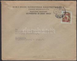 1945 (1. díjszabás) Távolsági levél Kisegítő (I) 1P/80f egyes bérmentesítéssel