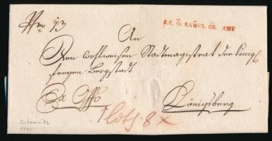 1793 Ex offo piros / red K.K. Ö. KAMER. GR. AMT. - Königsberg