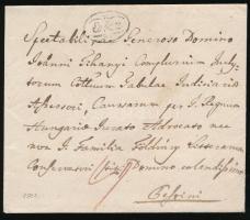 1821 Portós levél Erlau - Pesth