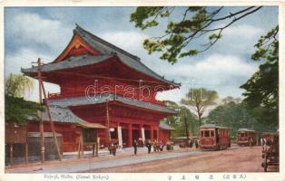 Tokyo,Shiba, Zojo-ji, trams