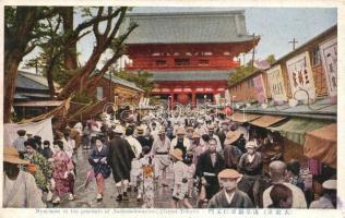 Tokyo, Nioo-mon in the precincts of Asakusa-kwannon (EK)