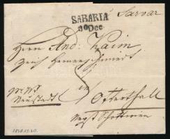 1838 Franco levél SABARIA - Ottental