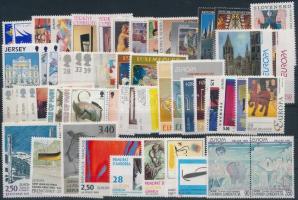 1993 Europa Cept, Kortárs művészetek csaknem teljes évfolyam kiadásai, benne teljes sorok, párok
