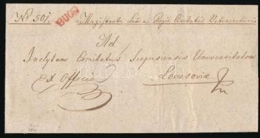 1840 Ex offo piros / red BUCS - Lőcse