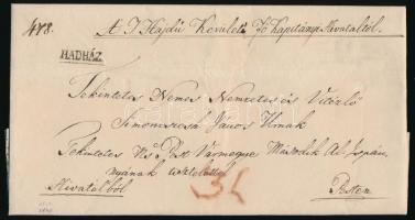 1840 Hivatalos levél / official cover HADHÁZ - Pest