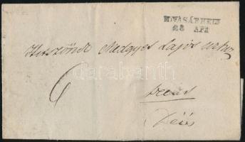 1842-1850 Portós levél / unpaid cover M.VÁSÁRHGELY - Deés