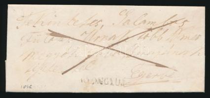 1846 Franco levél GYÖNGYÖS - Eger