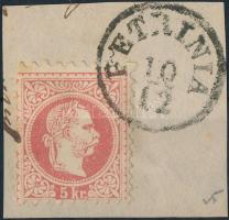 "Austria-Hungary-Croatia postmark ""PETRINIA"" ""PETRINIA"""