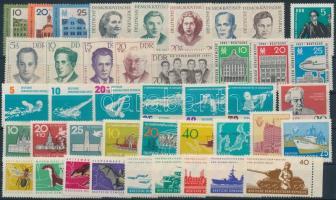1962 12 db klf kiadás, közte teljes sorok és ívszéli értékek
