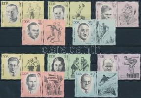 1963 Sport (I-II.) 2 szelvényes sor Mi 958-962, 983-987