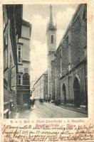 1899 Vienna, Wien I. K.u.K. Stadt-Pfarrkirche z. h. Augustin, Augustinerstrasse, Restauration. Verlag C. Ledermann / church (EK)