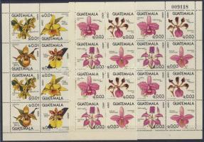 1978 Orchideák 4-4 négyesblokkot tartalmazó hajtott kisívpár Mi 1101-1108