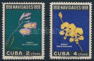 1958 Karácsony, virágok sor Mi 613-614
