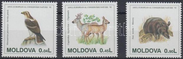 1995 Európai Természetvédelmi Év sor Mi 158-160