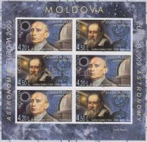2009 Europa CEPT: Csillagászat vágott fogazott bélyegfüzet MH 14 A-B